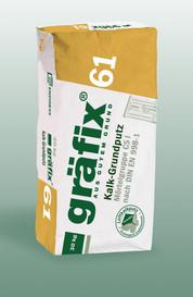 Gräfix 61 Kalk-Grundputz, Reiner Luftkalkputz ohne Zementzusatz, Sack 30 kg