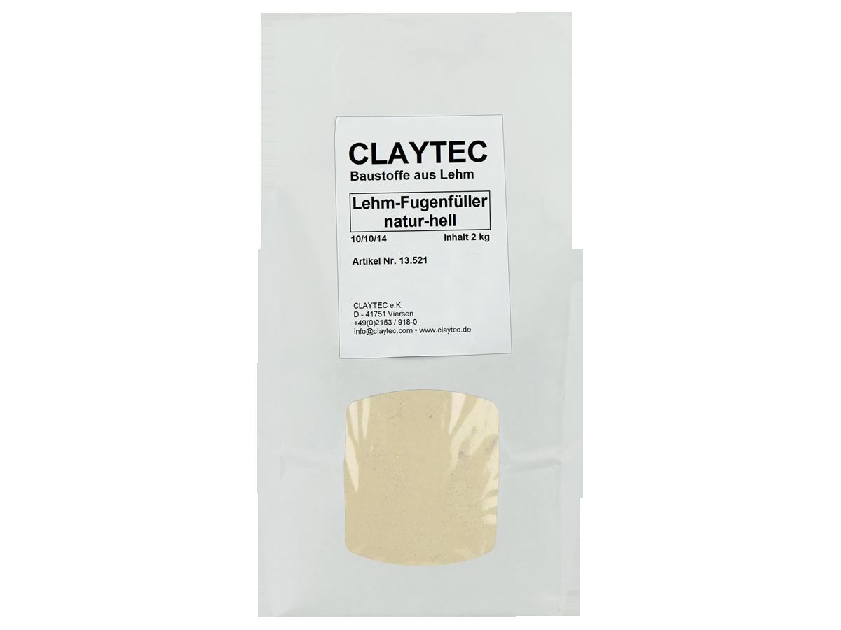 Claytec, Lehm-Fugenfüller, natur-hell, 1,5 kg