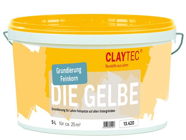 """Claytec Grundierung """"Die Gelbe"""" mit feiner Körnung für Yosima Edelputze in 5 Liter"""