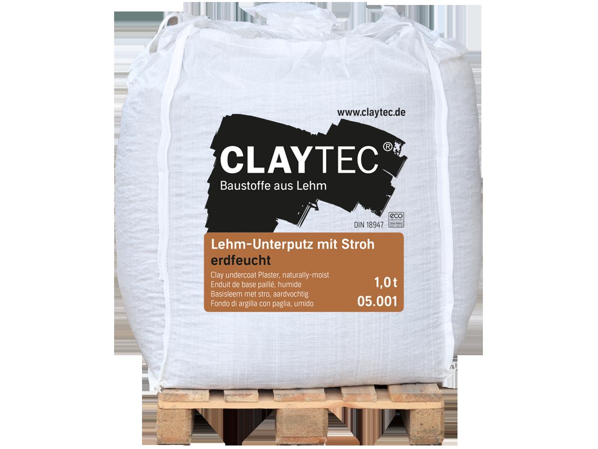 Claytec Lehm-Unterputz mit Stroh/ erdfeucht /BigBag/1000 kg