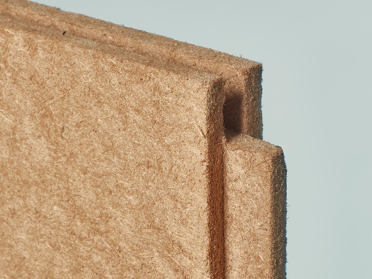 Claytec ökologische Holzfaserausbauplatte zum Lehmverputz, Dicke 25 mm, Nut- und Feder