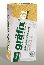 gräfix 61 fein, Kalk-Dünnschichtputz auf Luftkalkbasis, Sack 30 kg
