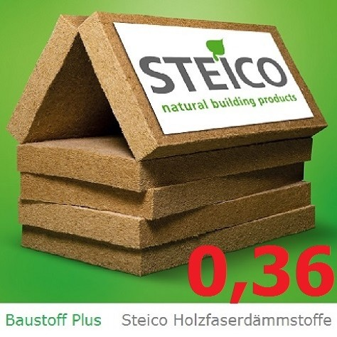 "Steico ""flex"" 036/ 220 mm Dicke /  flexible ökologische Holzfaserdämmung, 1220x575mm / Pack 1,403 m²"